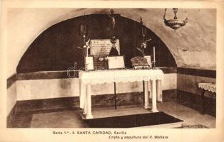 Sevilla, Santa Caridad, Cripta y sepultura del V. Manara