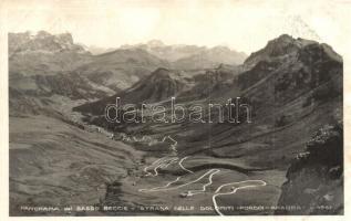 Sasso Beccie, Strada delle Dolomiti, Pordoi Arabba