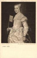 Portrait of Lavinia Vecellio, Postkarte Amtliche Ausgabe der General-Direktion der Königl. Sammlungen zu Dresden s: Tiziano Vecellio