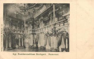 Stuttgart, Kgl. Residenzschloss, Marmorsaal / palace, interior
