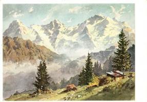 Eiger, Mönch und Jungfrau, Wiechmann Bildkarten Nr. 3100. s: Josef Süssmayr