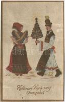Kellemes Karácsonyi Ünnepeket, magyar folklór Christmas, Hungarian folklore
