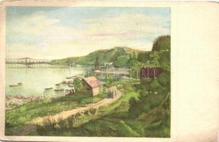 Dunai táj, olaj s: Sugár Gyula