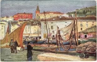 Piran, Pirano; Porto dei pescator, B.K.W.I. 264-14.