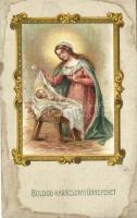 Boldog Karácsonyi ünnpeket! Jézus és Mária, G.O.M. 2620. litho Christmas, Jesus and Virgin Mary, G.O.M. 2620. litho