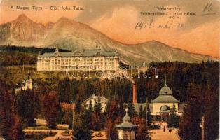 Tatranská Lomnica, Hotel Palace, spa, Tátralomnic, Palota szálloda, gyógyház