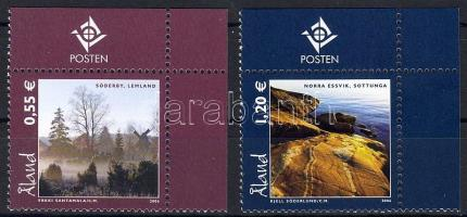 Lanscapes margin set, Tájak ívszéli sor, Landschaften Satz mit Rand