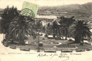 Monte Carlo, flower bed, TCV card