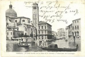 Venice, Venezia; Il Canal Grande con la Chiesa di S. Geremia / church