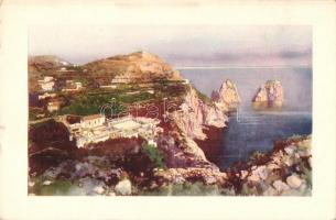 Capri, La Certosa e i Faraglioni / general view, rocks