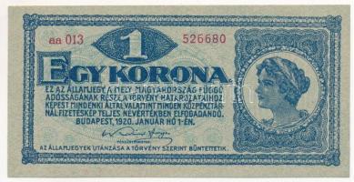 1920. 1K 1920. 1 Korona