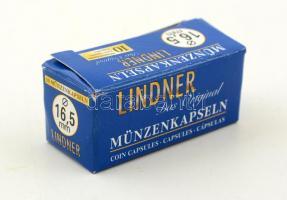 Lindner coin capsules 16,5mm - Pack of 10, Lindner érmekapszula 16,5mm - 10 darabos, Lindner Münzenkapseln 16,5mm - 10-er Pack