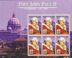 In memoriam pope John Paul II mini sheet, II. János Pál pápa emlékére kisív, In memoriam Papst Johannes Paul II. Kleinbogen