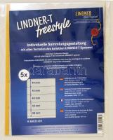 LINDNER-T freestyle foil sheets with 5 strips (38 mm) and self-adhesive strip - pack of 5 LINDNER-T freestyle Folienhülle mit 5 Einsteckstreifen (38 mm) und Selbstklebestreifen, 5er-Packung Lindner-T Freestyle albumpótlás S802512H