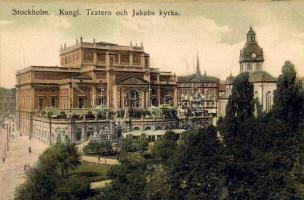 Stockholm theater and Saint James's Church, Stockholm színház és Szent János templom