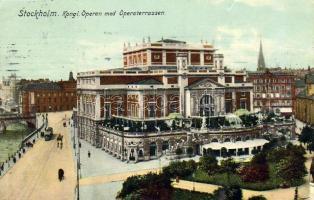 Stockholm Opera with Opera Terrace, Stockholm Opera terasszal