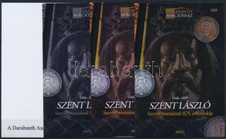 Saint Laszlo sheet set (4 pcs) with same serial number Szent László Szentté avatásának 825. évfordulója 4 db-os emlékív garnitúra azonos sorszámmal