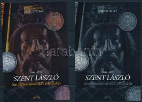 Szent László Szentté avatásának 825. évfordulója karton próbanyomat emlékívpár Saint Laszlo souvenir sheet pair