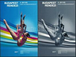Budapest rendezi a 2017-es Úszó-Világbajnokságot karton próbanyomat emlékívpár Swimming World Cup souvenir sheet pair