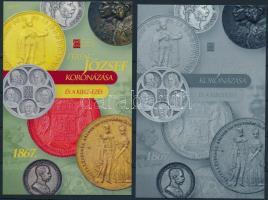 Ferenc József koronázása és a kiegyezés karton próbanyomat emlékívpár Franz Joseph souvenir sheet pair