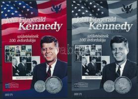 John F. Kennedy születésének 100. évfordulója karton próbanyomat emlékívpár John F. Kennedy souvenir sheet pair