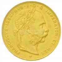 """1892. 8 Florin / 20 Francs """"Franz Joseph"""" restrike 1892. 8Fl/20Fr """"Ferenc József"""" utánveret"""