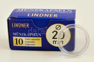 Lindner coin capsules 20mm - Pack of 10, Lindner érmekapszula 20mm - 10 darabos 2250020P, Lindner Münzenkapseln 20mm - 10-er Pack
