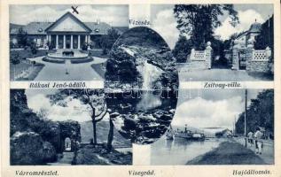 Visegrád, Rákosi Jenő üdülő, Zsitvay villa, Várrom, Hajóállomás, Vízesés