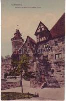 Nürnberg, Eingang zur Burg mit Vestner Turm / entry of the castle, tower
