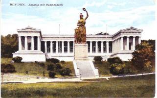 München, Bavaria mit Ruhmeshalle / statue