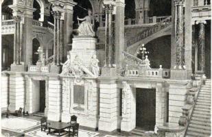 Budapest V. Igazságügyi Palota, lépcsőház, belső