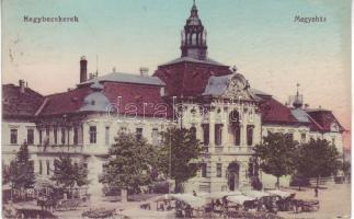 Zrenjanin, county hall, market, Nagybecskerek, Megyeház, piac