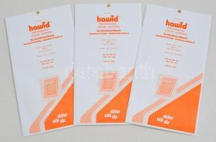 hawid Block sizes 80 x 110 mm, crystal clear - pack of 7 hawid Klemmtaschen Blockstreifen 80 x 110 mm, glasklar, 7 Stück hawid 2208 víztiszta filatasak, 80 x 110 mm