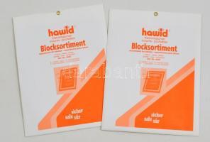 hawid Block sizes sorted, crystal clear, - pack of 9 hawid Klemmtaschen Blockstreifen sortiert, glasklar, 9 Stück hawid 2205 víztiszta filatasak