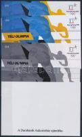 Winter Olympic Games sheet set (4 pcs) with same serial number Téli Olimpia 4 db-os emlékív garnitúra azonos sorszámmal
