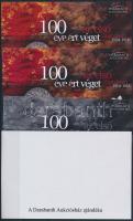WWI sheet set (4 pcs) with same serial number 100 éve ért véget az első világháború 4 db-os emlékív garnitúra azonos sorszámmal