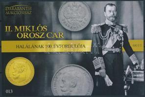 II. Nyikolaj sheet, II. Miklós orosz cár emlékív