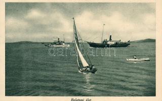 Balaton, SS Kelén, gőzhajó, vitorlás, csónak