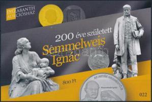 Semmelweis Ignác memorial sheet, 200 éve született Semmelweis Ignác emlékív