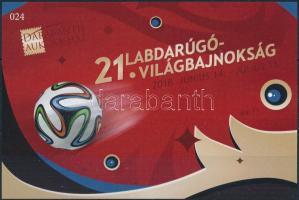 Football World Cup memorial sheet, 21. Labdarúgó Világbajnokság emlékív