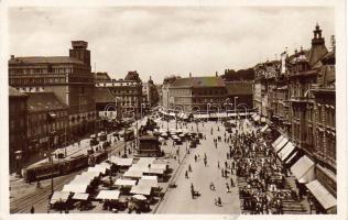 Zagreb Jelacic street, hotel, tram, Zágráb Jelacic utca, hotel, villamos