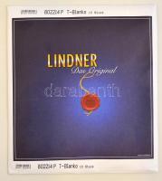 LINDNER T-Blank pages with 3 pockets: 209 mm - pack of 10, Lindner T-Blanko albumpótlás 209 mm-10 darabos  802214P, T-Blanko-Blätter mit 3 Streifen: 209 mm - 10er-Packung