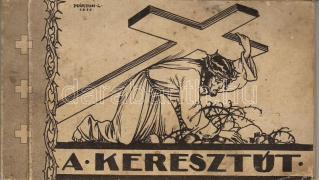 Stations of the Cross, postcard booklet with 12 cards, s: Márton L., A Keresztút, képeslapfüzet 12 képeslappal, s: Márton L.
