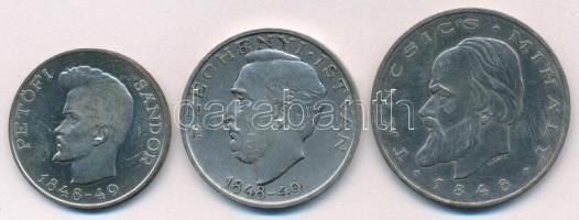 "1948. 5 Forint Ag ""Petőfi"" + 10 Forint Ag ""Széchenyi"" + 20 Forint Ag ""Táncsics"" - ""Revolution series"" / patina, 1948. 5Ft Ag ""Petőfi"" + 10Ft Ag ""Széchenyi"" + 20Ft Ag ""Táncsics"" - ""Szabadságharc sor"" / patina"