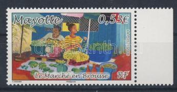 Helyi piac ívszéli bélyeg Lokaler Markt Marke mit Rand Local market margin stamp