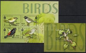 Birds mini sheet + block Vögel Kleinbogen + Block Madarak kisív + blokk