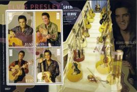 Elvis Presley mini sheet, Elvis Presley kisív, Elvis Presley Kleinbogen