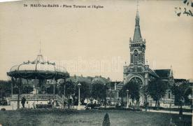 Dunkirk Turenne square with church, Dunkirk Turenne tér templommal