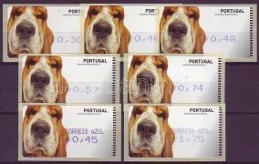Automatic stamps: dogs 7 different values (self-adhesive), Automata bélyegek: kutyák 7 klf érték (öntapadós), Automatenmarken: Hunde 7 verschiedene Werte (selbstklebend)