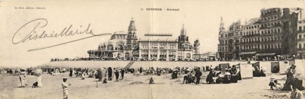 Ostend beach panoramacard, Ostend strand panorámalap